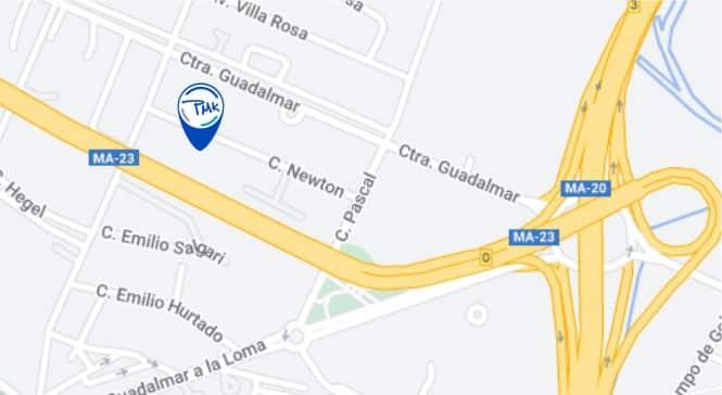 localizacion Pmk Chapa y Pintura Malaga Malaga